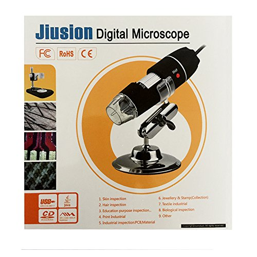 Jiusion 40 to 1000x Magnification Endoscope, 2MP 8 LED USB 2 0 Digital  Microscope, Mini Camera with OTG Adapter and Metal Stand, Compatible with  Mac