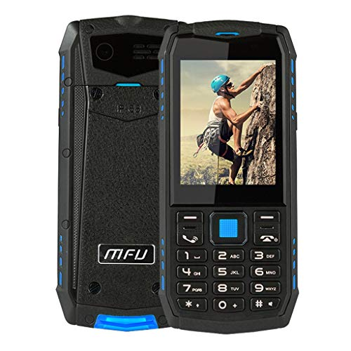 QUICATCH MFU A903S 3G Network IP68 Waterproof Tahan Getaran Tahan Air Ponsel 2.8 inch 2700 mAh Dual Camera Dual Mini SIM Feature Phone Big Volume Loud Clear Sound (Blue)