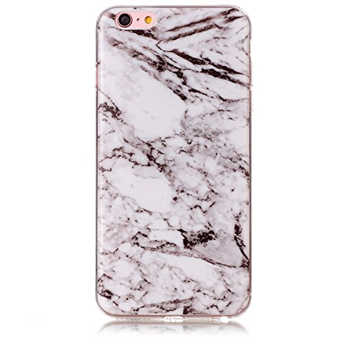 Price comparison product image UCLL iphone 6 Case , iphone 6s Case Marble Design for Iphone6/6s Slim Soft TPU Bumper Protective Durable Shockproof Case For Iphone with a Screen Protector (gray and white)