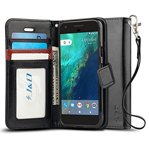 J&D Case Compatible for Google Pixel Case, [Wallet Stand] [Slim Fit] Shock Resistant Flip Cover Wallet Case for Google Pixel Wallet Case - [Not for Pixel XL/Pixel 2/Pixel 2 XL/Pixel 3/Pixel 3 XL]