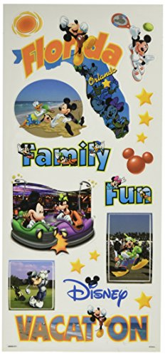 Sandylion Disney Stickers/Borders Packaged, Mickey States Florida