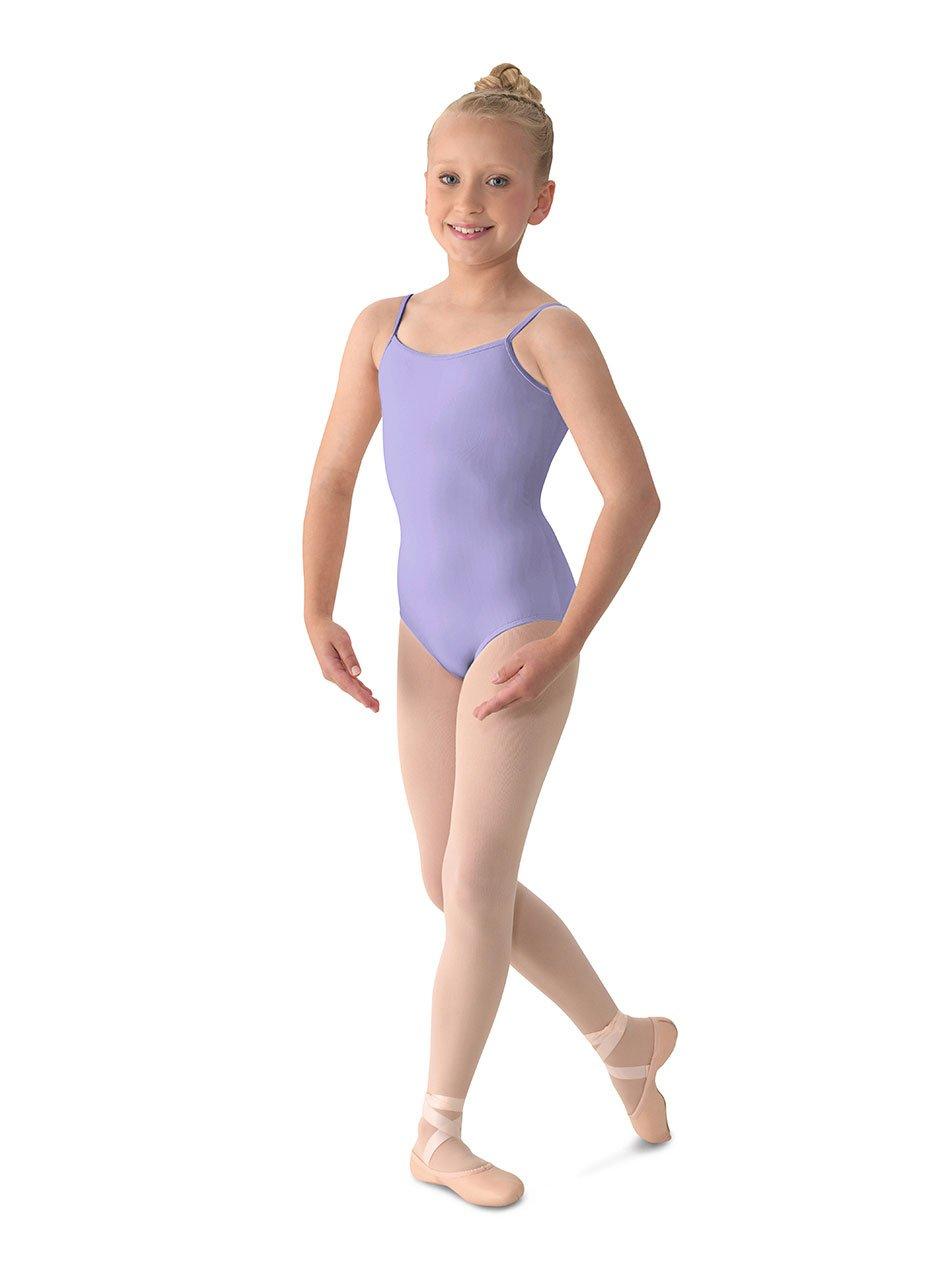 Mirella Girl's Classic V-Back Camisole Dance Leotard,Lilac,8-10 by Mirella
