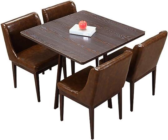 HUDEMR Juego de Mesa y sillas de Comedor La negociación de la Tabla con 4 sillas