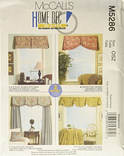 McCall's Patterns M5286 Window Valances for sale  Delivered anywhere in USA