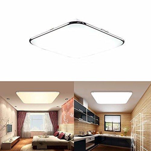 SAILUN 12W Kaltweiss Ultraslim LED Deckenleuchte Modern Deckenlampe Flur Wohnzimmer Lampe Schlafzimmer Kuche Energie Sparen Licht Wandleuchte Farbe Silber