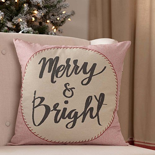 Piper Classics Merry & Bright Throw Pillow Cover, 18