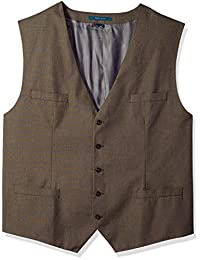 Perry Ellis mens Regular Fit, Pattern Twill Suit Vest