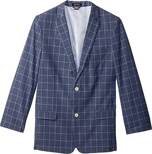 - Tommy Hilfiger Boys' Big' Patterned Blazer Jacket, Moody Blue, 10
