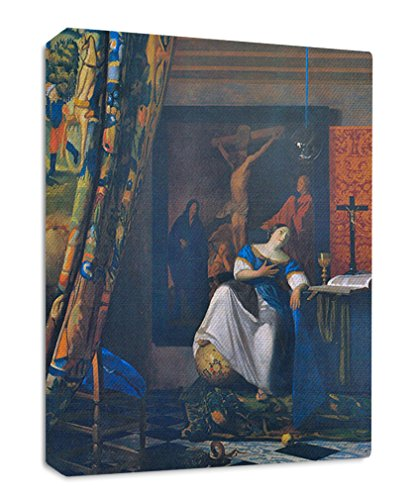 Vermeer Allegory Of Faith Streched Canvas Wrap Frame Print Wall Décor - Full Border, 32''x48'' by Style in Print