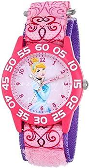 Disney Kids W001193 Cinderella Plastic Printed Stretch Nylon Strap Watch