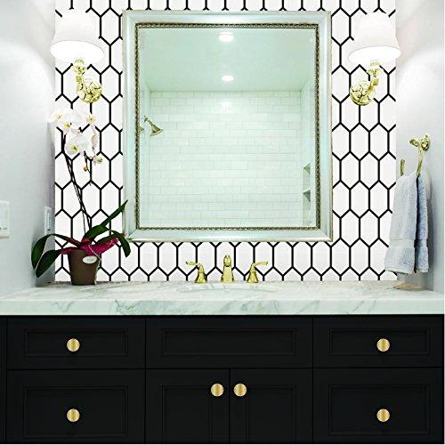 Self Adhesive Shelf Liner - 2 Pack - Honeycomb White