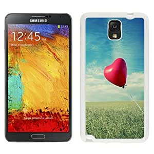 NEW Unique Custom Designed Samsung Galaxy Note 3 N900A N900V N900P N900T Phone Case With Heart Shaped Air Balloon_White Phone Case