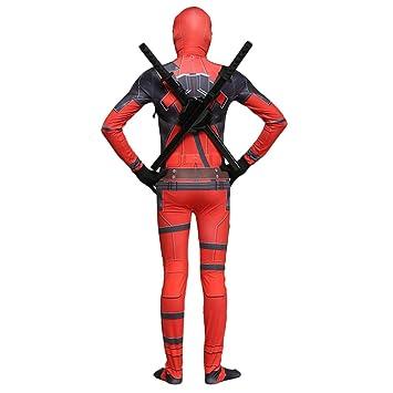 QQWE Marvel Deadpool Disfraz Disfraz Adulto Niños Halloween ...