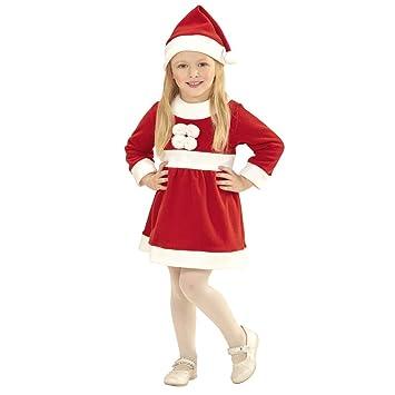 Amakando Disfraz tierna mamá Noel para niña / Rojo-Blanco en ...