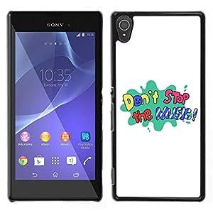 Dragon Case - FOR Sony Xperia T3 - don't stop the music - Caja protectora de pl??stico duro de la cubierta Dise?¡Ào Slim Fit
