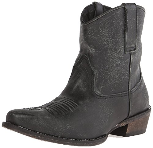 Roper Women's Dusty Western Boot, Black, 9 M US (Ankle Cowboy Boots)