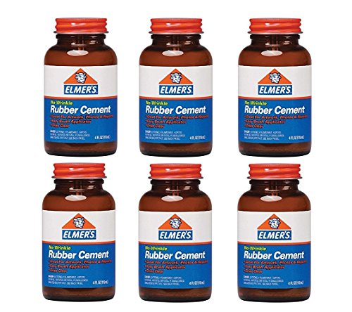 elmers-no-wrinkle-rubber-cement-with-brush-904-pack-of-6