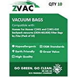 Hoover For Hoover C2401 and C2401-010 backpack vacuums (Similar to OEM-401000) Filter Bags by ZVac (Pack of 10)
