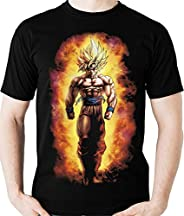 Camiseta Goku Super Saiyajin Dragon Ball (geek) Camisa Blusa