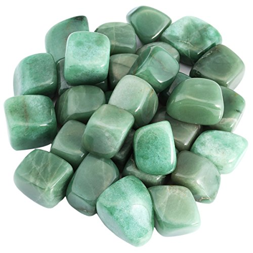 Nugget Green Aventurine - SUNYIK Tumbled Polished Stone,Smooth Rock Crystal for Tumbling,Cabbing,Green Aventurine 1pound(About 460 Gram)