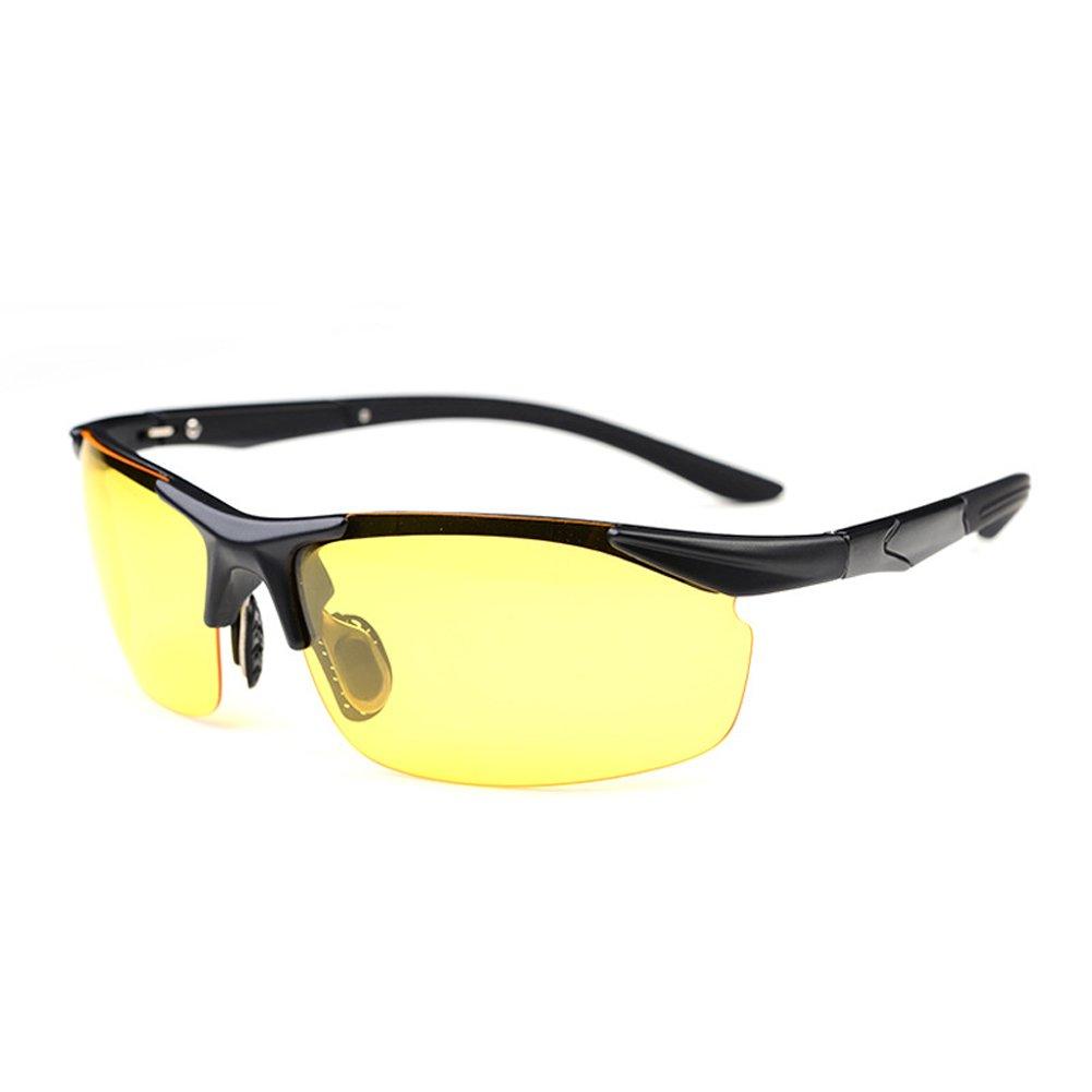 MAKFORT Nachtsichtbrille HD Autofahren Nachtsicht Brille Polarisiert Auto Nachtfahrbrille fü r Herren und Damen