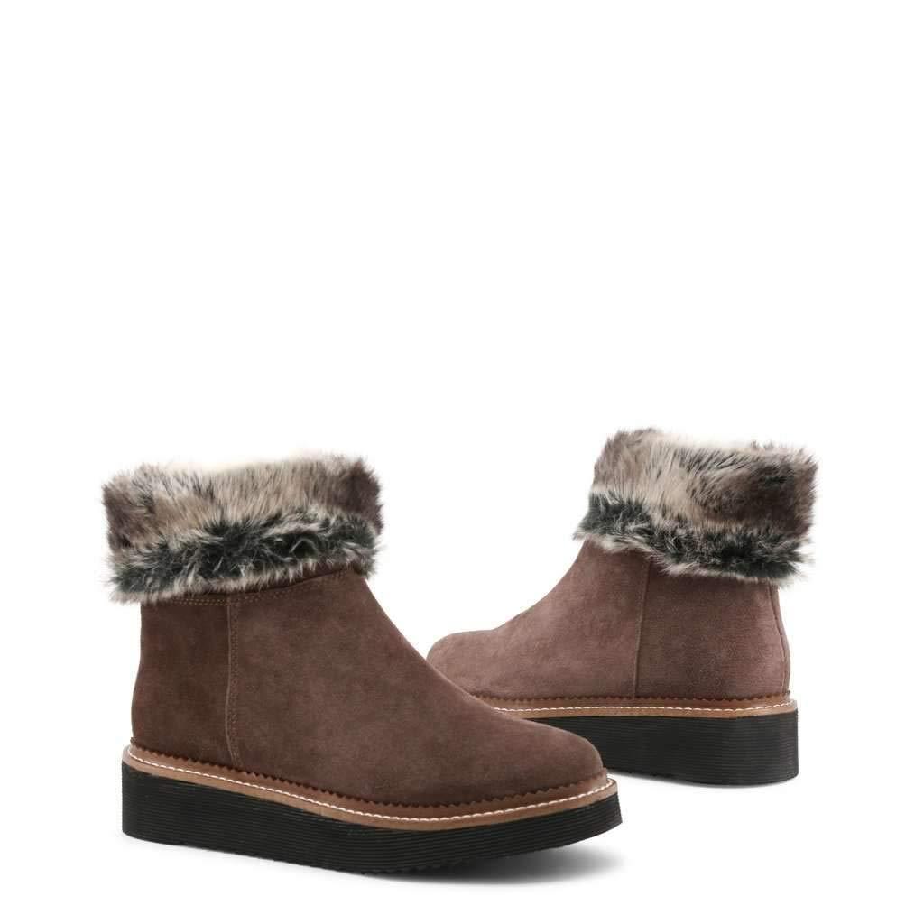 Gardenia-MID/_2022/_TDM-Beige Docksteps Womens Leather Ankle Boots