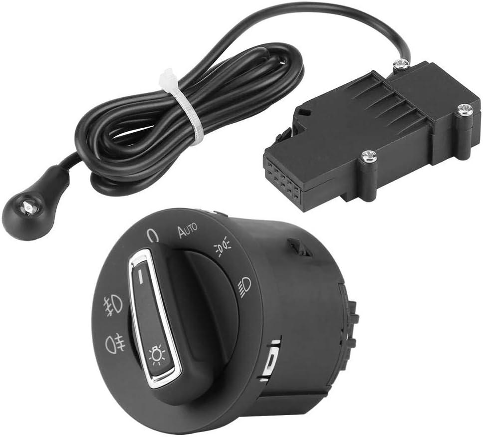 Kimiss Auto Scheinwerfer Lampe Schalter Taste Scheinwerfersteuerschalter Lichtsensormodul Schalter Integrierter Schaltknopf Auto