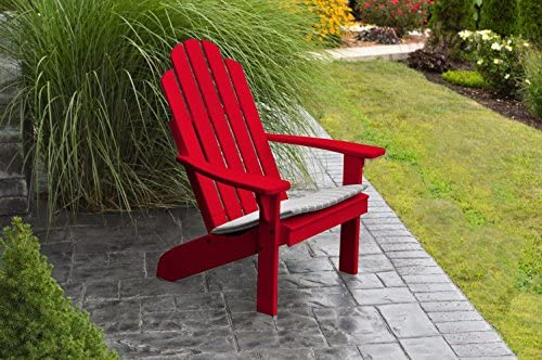 Best Adirondack Chair Porch Furniture Patio Seating, Kennebunkport Design Stylish Outdoor Living, Perfect for Front Entry Back Yard, Fire Pit Pool Side, Fun Color Choices Chinese Red