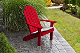 BEST ADIRONDACK CHAIR PORCH FURNITURE & PATIO SEATING, Kennebunkport Design & Stylish Outdoor Living, Perfect for Front Entry & Back Yard, Fire Pit & Pool Side, Fun Color Choices (Chinese Red)