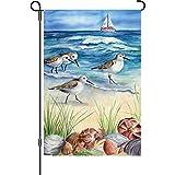 Premier 51088 Garden Illuminated Flag, Shore Birds, 12 by 18-Inch