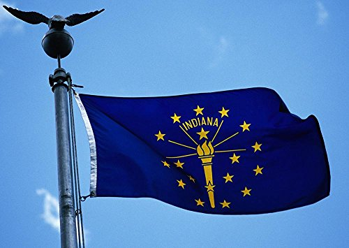 Allied Flag Outdoor Nylon State Flag, Indiana, 2-Foot by 3-Foot