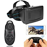 Atongm 3D VRII Virtual Reality Headset + Mouse Gamepad for 3.5-6 Inch Google,iPhone,Samsung Note,LG,Huawei,HTC,PC,Smartphone