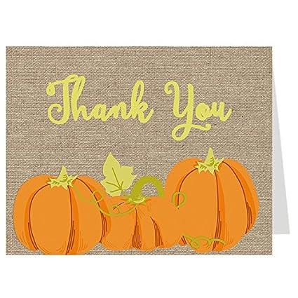 Amazon Com Fall Thank You Cards Autumn Pumpkin Baby Shower