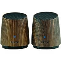 iHome iHM89DC Rechargeable Mini Speaker (Dark wood)