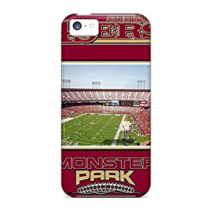 ErleneRobinson Iphone 5c Shockproof Hard Cell-phone Cases Allow Personal Design Colorful San Francisco 49ers Image [YoM11551DmaB]