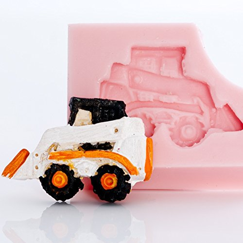 Mold Candy Front (Small Skid Steer Silicone Mold Food Safe Fondant, Resin, Polymer Clay Mold. Flexible easy to use. Jewelry, Craft or Food Mold.)