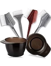 Salon Coloring Brush, YGDZ Hair Dye Bowl and Brush Set, 4pcs Dye Brush & Comb, 2pcs Mixing Bowls, Professional Tint Tools