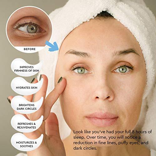51qO6we79mL - AZALLY Hydrogel Collagen Eye Mask - Collagen Anti-Aging Under Eye Patches, Under Eye Patches, Under Eye Bags Treatment, Eye Mask for Puffy Eyes (60pcs)