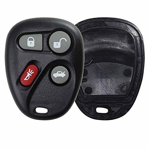 KeylessOption Replacement 4 Button Keyless Entry Remote Key Fob Shell Case and Button Pad Compatible with KOBLEAR1XT KOBUT1BT (2004 Cadillac Deville Key Fob compare prices)