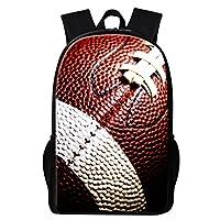 GiveMeBag Generic Soccer Backpack Pattern Football Printing Bookbag for Children Boys Day Pack