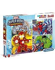 CLEMENTONI 3x48 el. Super Hero Adventures 25248 [PUZZLE]