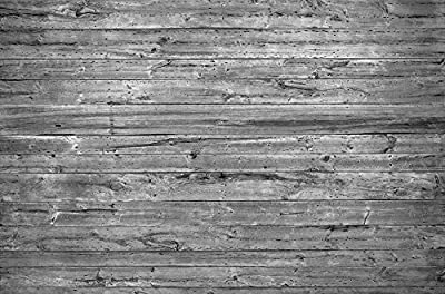 12-Feet wide by 8-Feet high.Prepasted robust wallpaper mural from high res. photo of:Old Horizontal B&W Barn Wood Wall.Our murals are easy to install remove reuse if U do as in our video.