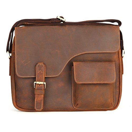 Kattee Designer Genuine Cow Leather Flapover Messenger Bag