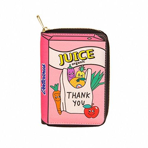 tigina-womens-trendy-cartoon-print-funny-short-zipper-wallet-cash-coins-card-holder-travel-ladies-pu