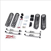 "Jeep 3"" JK Wrangler Full Suspension Lift kit Zone Offroad 4 door w/Black Nitro Shocks"