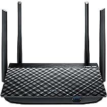 Asus RT-AC58U AC1300 Dual-Band 802.11ac WLAN Router (Gigabit LAN/WAN, USB 3.0, Server-Funktionen, IPv6, 8x SSID, AiRadar, MU-MIMO)