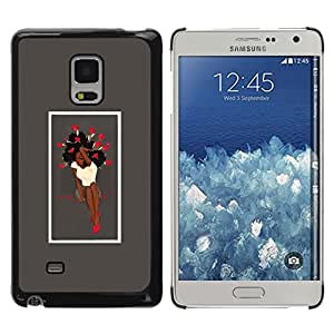 Impact Case Cover with Art Pattern Designs FOR Samsung Galaxy Mega 5.8 Sexy Afro Woman & Roses Betty shop