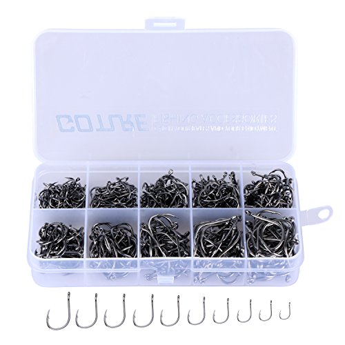 Fish Kit - Goture Jig Hooks Set Kit With Fishing Tackle Box Fish Head Hooks (Fish Hook 500pcs(#6-#15))