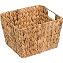 "11.5"" Hyacinth Storage Basket with Handles, Rectangular, by Trademark Innovations"