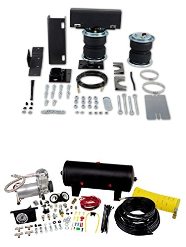 Air Lift 57216/25690 Set of Rear Load Lifter 5000 Series w/Quick Shot System Kit for C1500/C2500/C3500/K1500/K2500/K3500/V3500/R2500/R3500 Pickup